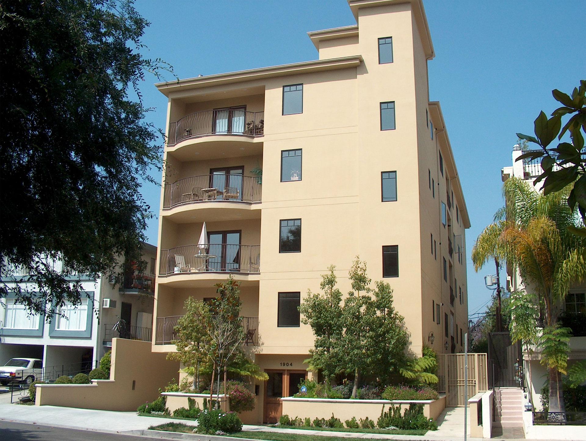 Four-Story Condominium with Semi-Subterranean Parking West