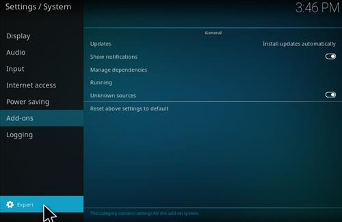 How To Enable Unknown Sources in KODI 17 Krypton 2017 pic 10