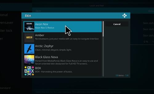How To Install Aeon Nox Skin Kodi 17 Krypton step 5