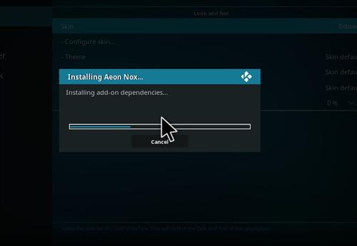 How To Install Aeon Nox Skin Kodi 17 Krypton step 7