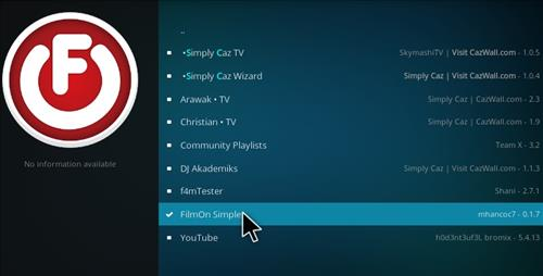 How to Install FilmOn Simple Add-on Kodi 17 Krypton