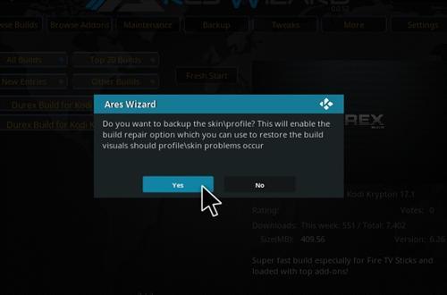 How to Install Durex Build Kodi 17.1 Krypton step 29