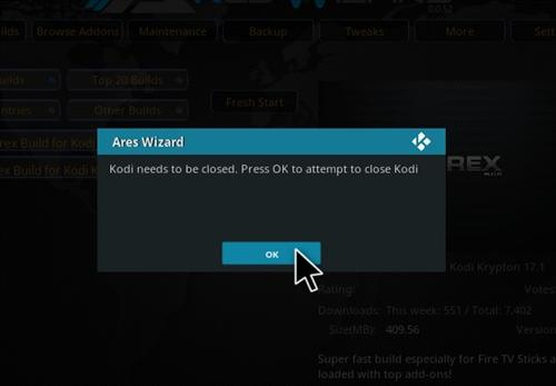How to Install Durex Build Kodi 17.1 Krypton step 30