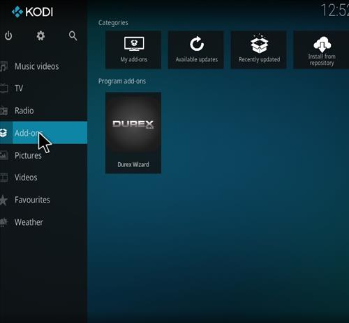 How to Install Durex Build Kodi Build step 8