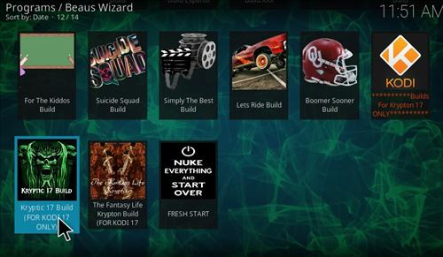 How to Install Kryptic Build Kodi 17.1 Krypton step 21