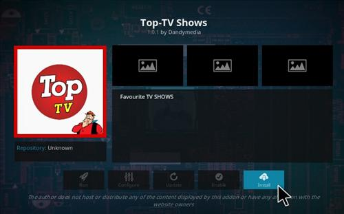 How to Install Top TV Shows Add-on Kodi 17.1 Krypton step 18