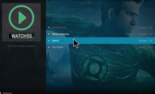 How to Install Watch 5S Add-on Kodi 17.1 Krypton step 17