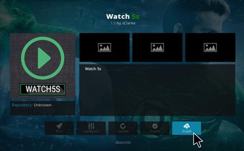How to Install Watch 5S Add-on Kodi 17.1 Krypton step 18