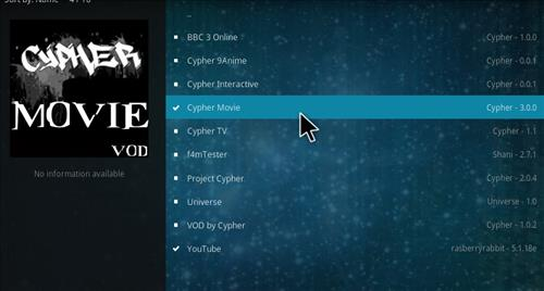 How to Install Cypher Movie VOD Add-on Kodi 17.1 Krypton step 17