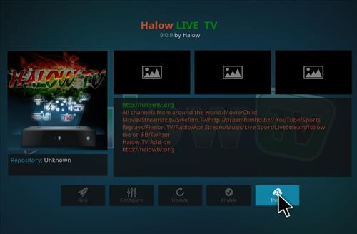 How to Install Halow Live TV Add-on Kodi 17.1 Krypton step 18