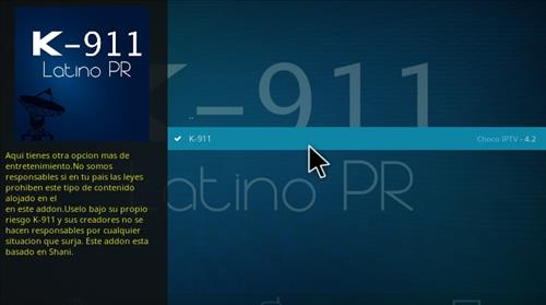 How to Install K-911 Latino PR Add-on Kodi 17.1 Krypton step 17