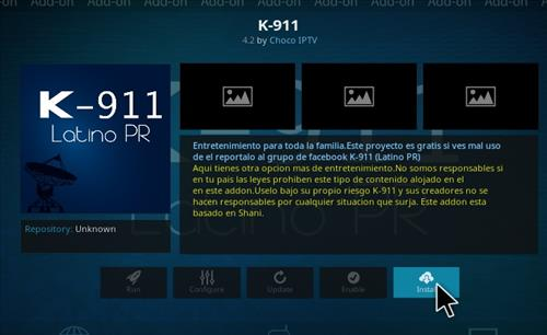 How to Install K-911 Latino PR Add-on Kodi 17.1 Krypton step 18
