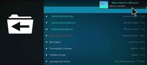 How to Install Merlin Build Kodi 17.1 Krypton step 19
