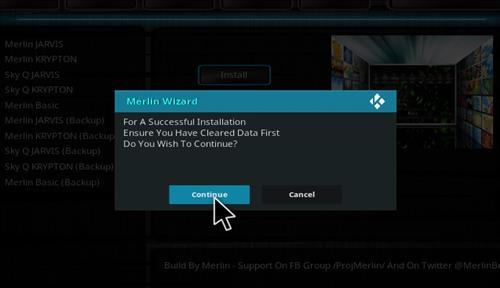 How to Install Merlin Build Kodi 17.1 Krypton step 26