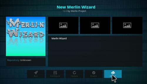 How to Install New Merlin Wizard Kodi 17.1 Krypton step 17