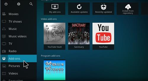 How to Install New Merlin Wizard Kodi 17.1 Krypton step 8
