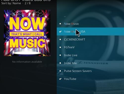 How to Install Now Music USA Add-on Kodi 17.6 Krypton step 17