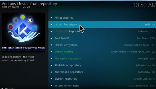 How to Install Kodil Repository Kodi 17 Krypton step 15