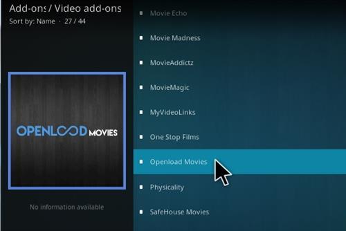 How to Install Openload Movies Addon Kodi 17 Krypton
