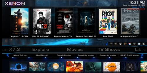 Best Kodi Builds for Android Smartphones xenon pic 1