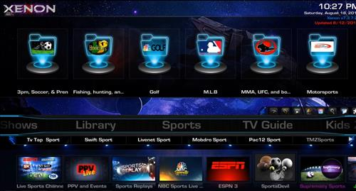 Best Kodi Builds for Android Smartphones xenon pic 2