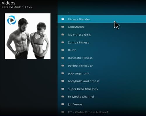 How to Install Fire Fitness Kodi Add-on with Screenshots pic 2