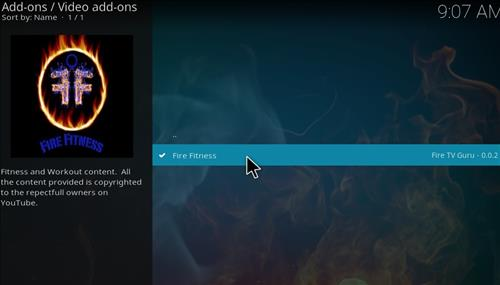 How to Install Fire Fitness Kodi Add-on with Screenshots step 17