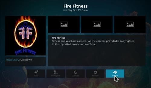 How to Install Fire Fitness Kodi Add-on with Screenshots step 18