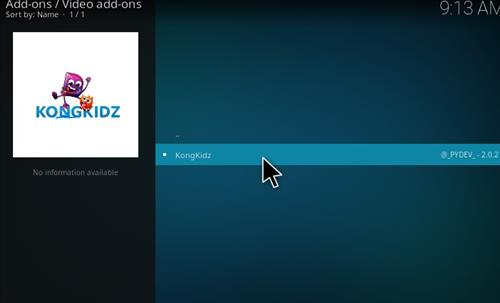How to Install KongKidz Kodi Add-on with Screenshots step 17