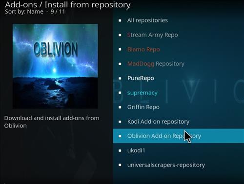 How to Install Oblivion Streams Kodi Add-on with Screenshots step 15