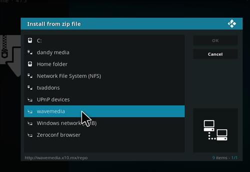 How to Install Wave TV Kodi Add-on with Screenshots step 11