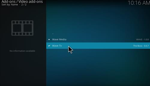 How to Install Wave TV Kodi Add-on with Screenshots step 17