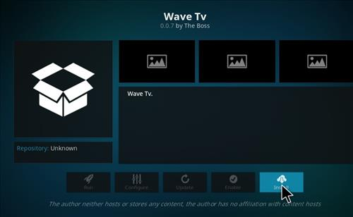 How to Install Wave TV Kodi Add-on with Screenshots step 18