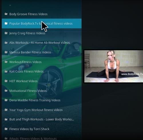 best fitness kodi addon Enzo pic 2