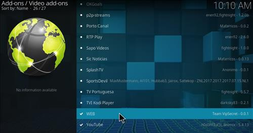 How to Install Web Sports Kodi Add-on with Screenshots step 17