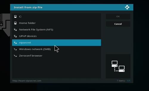 How to Install SecreTVVIP Kodi Add-on with Screenshots step 11