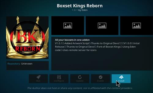 How to Install Boxset Kings Reborn Kodi Add-on with Screenshots step 18