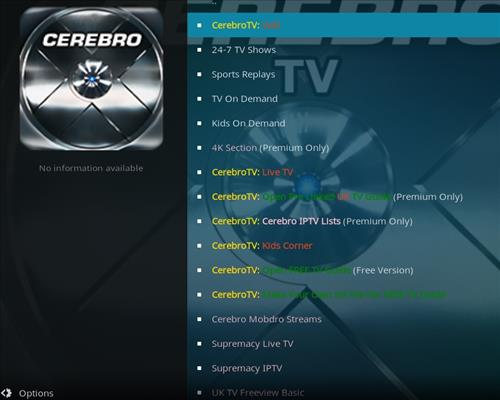 How to Install Cerebro Vod Player Kodi Add-on with