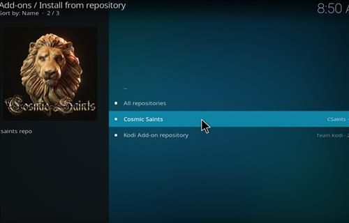 How to Install Cosmic Saints 4K Kodi Build with Screenshots step 15