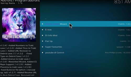 How to Install Cosmic Saints 4K Kodi Build with Screenshots step 17
