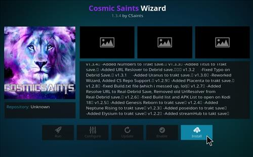 How to Install Cosmic Saints 4K Kodi Build with Screenshots step 18