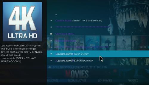 How to Install Cosmic Saints 4K Kodi Build with Screenshots step 23