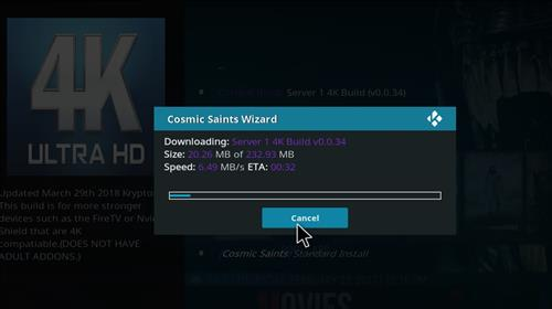 How to Install Cosmic Saints 4K Kodi Build with Screenshots step 25