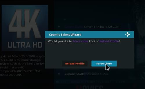 How to Install Cosmic Saints 4K Kodi Build with Screenshots step 26