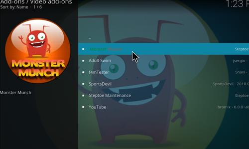 How to Install Monster Munch Kodi Add-on with Screenshots step 17
