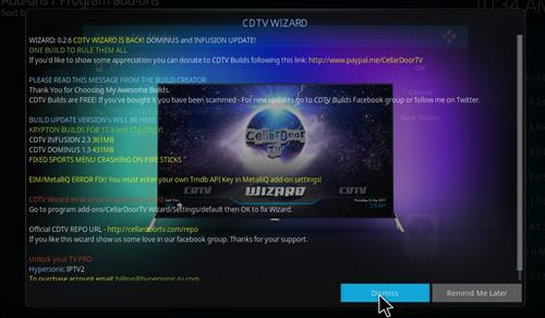 How to Install Cellar Door TV Build with Screenshots step 20