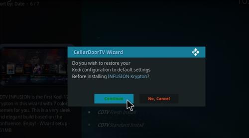 How to Install Cellar Door TV Build with Screenshots step 25
