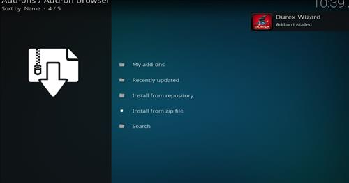How to Install Durex Build Kodi 17.6 Krypton with Screenshots step 13