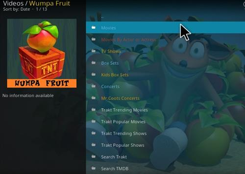 How to Install Wumpa Fruit Kodi Add-on with Screenshots pic 2