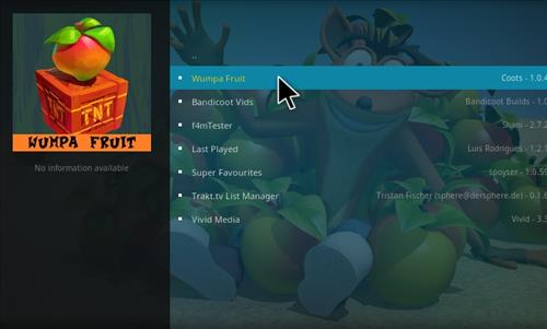 How to Install Wumpa Fruit Kodi Add-on with Screenshots step 17
